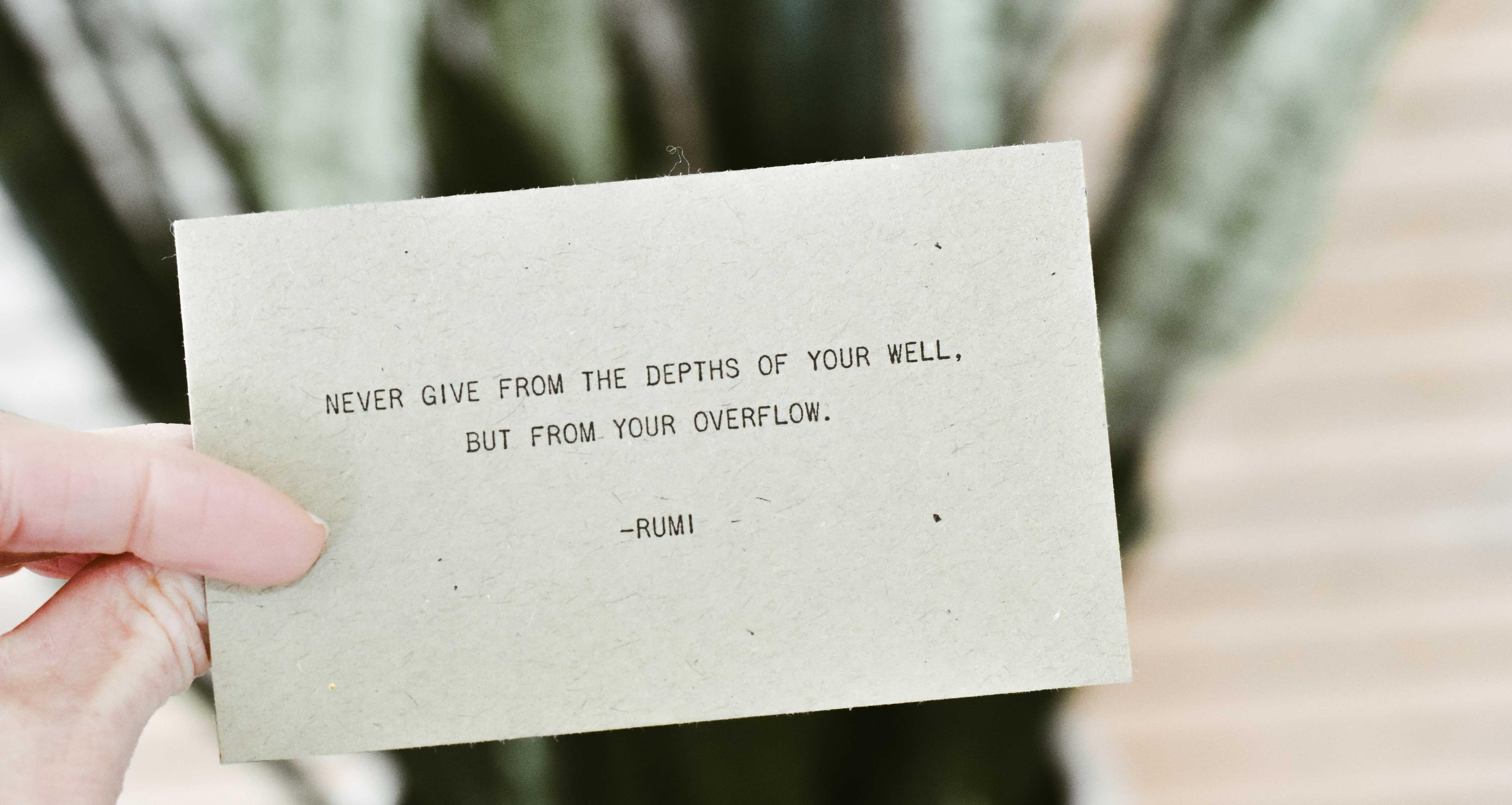 Wer ist Rumi?